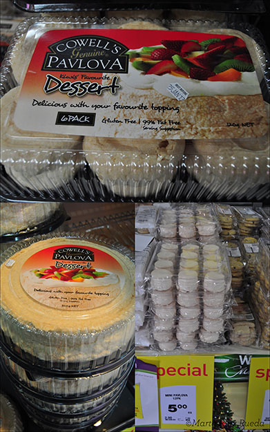 Diferentes bases de Pavlova disponibles en los supermercados