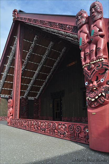 Marae, lugar de encuentro de maoríes