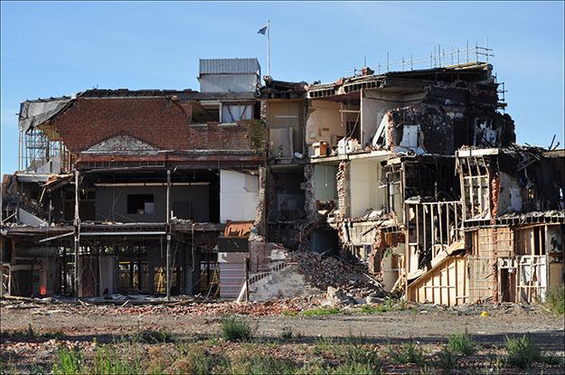 Edificio en proceso de demolición