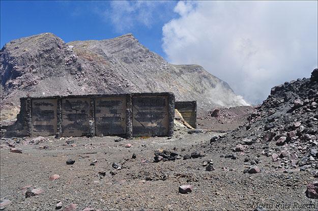 Restos de la fábrica minera de principios del siglo XX