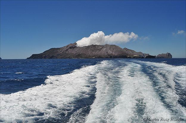 White Island desde el barco