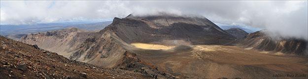 Vista del valle desde el Red Crater