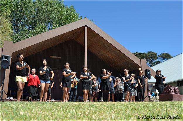 Baile maorí en la marae de Waiheke el pasado 6 de febrero, Treaty of Waitangi Day
