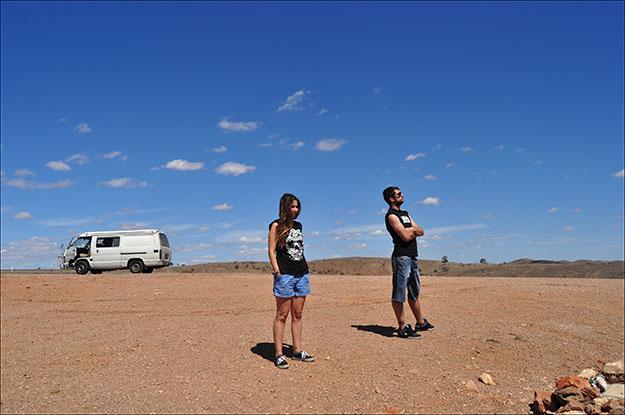 Desierto cercano a Broken Hill, lugar donde se han rodado películas, como Mad Max II y spots publicitarios