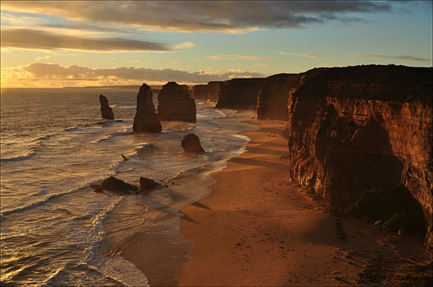 Los 12 Apóstoles durante una puesta de sol