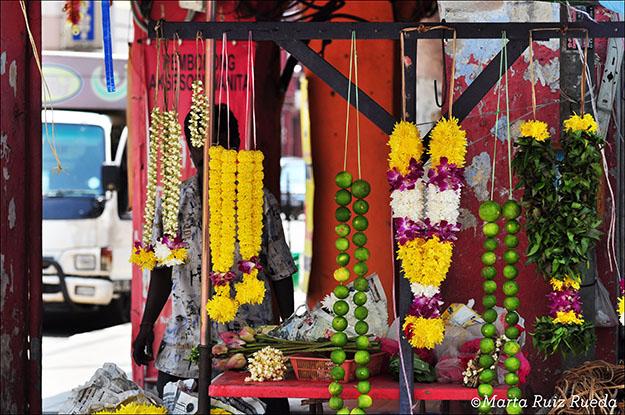 Ofrendas para los templos hindús