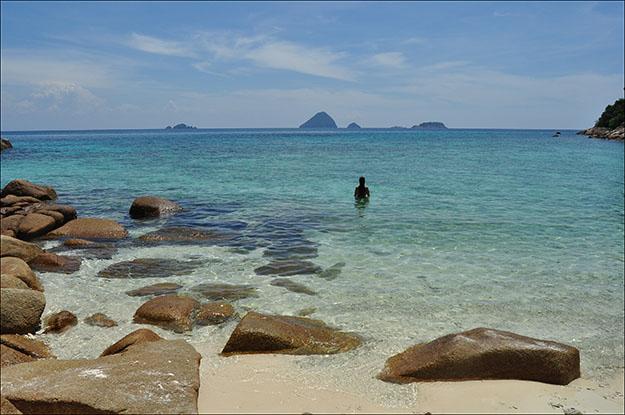 Turtle beach en Perhentian Kecil