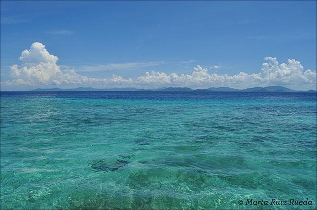 Mar de Célebes desde Mabul