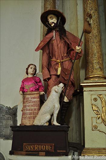 Figura de San Roque en la Catedral de San Pablo, Vigan