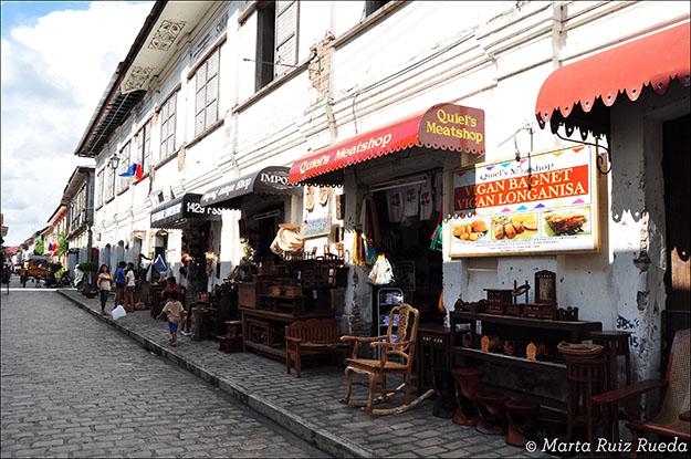 Gastronomía típica de Vigan dirigida a los turistas