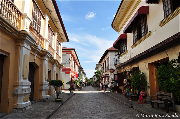 Una de las calles más turísticas de Vigan
