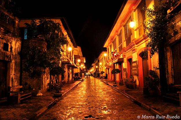 Calle de los Reyes, de noche