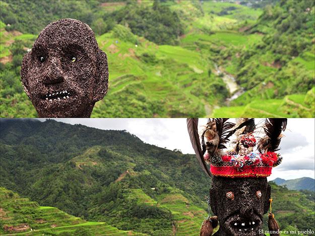 Figuras relacionadas con las diferentes etnias de los pueblos ifugao custodian los arrozales de Banaue