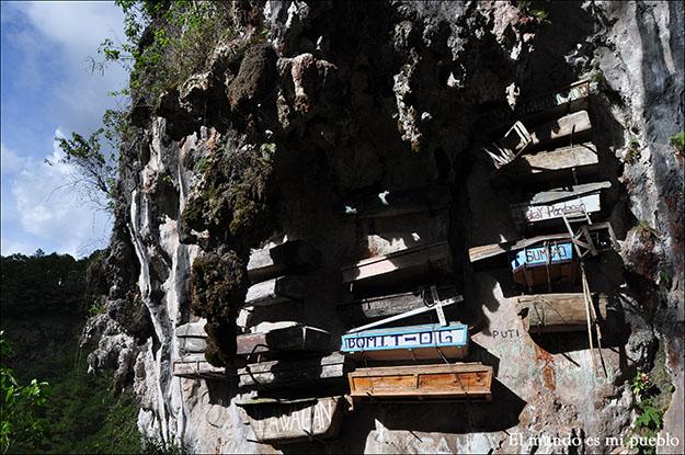 Las tumbas colgantes de Sagada