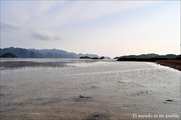 Playa cercana a la comunidad Tagbanua que visité
