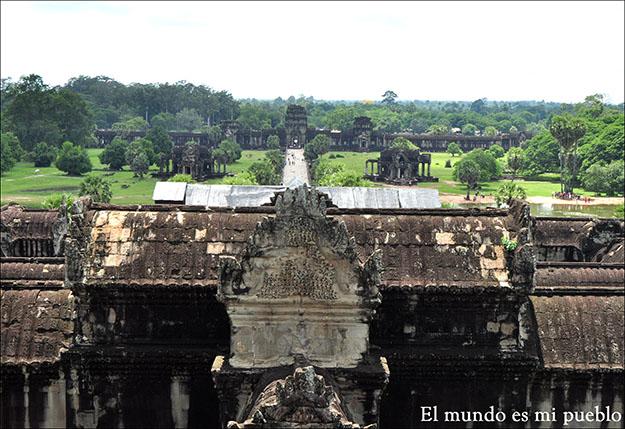 Vista desde el mismo templo Angkor Wat