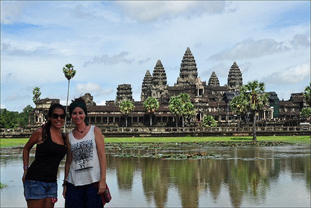 Noelia y yo en Angkor Wat