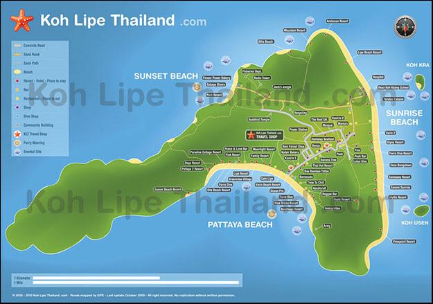 Mapa de Koh Lipe. Fuente: .mundo-nomada.com