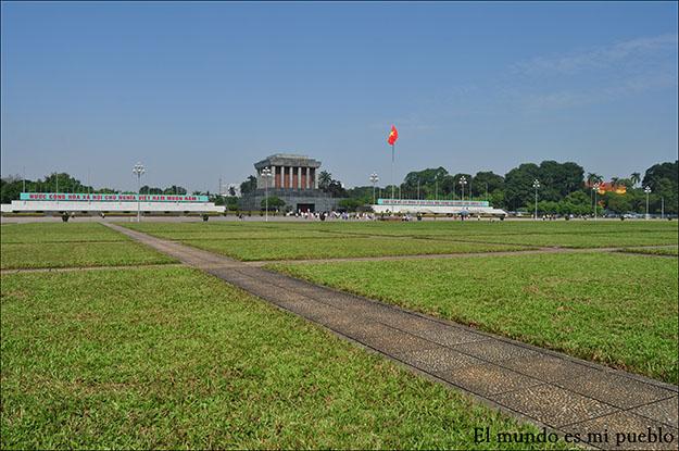 Plaza Ba Dinh, donde se encuentra el mausoleo de Ho-Chi Minh