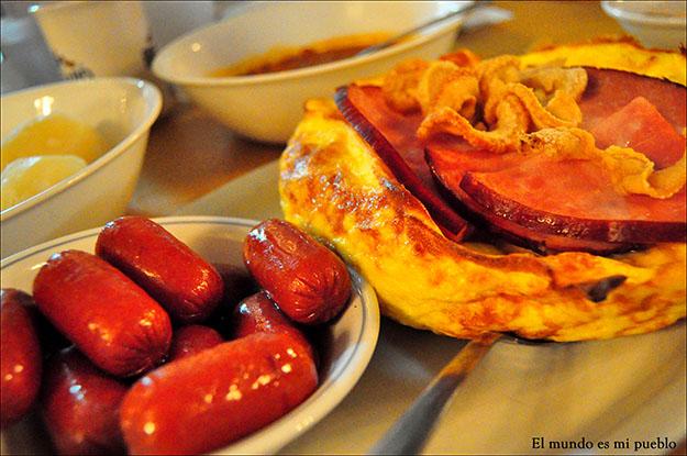 Los platos principales también se aderezan con sirope de arce