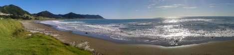 Vistas desde la costa este de la Isla Norte de Nueva Zelanda. Foto: Matteo Carpani