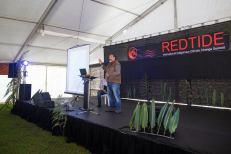 Uno de los ponentes del simposio. Foto: Indigenous Climate Action
