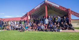 Maungaroa Marae, lugar de descanso y encuentro de los participantes. Foto: Indigenous Climate Action